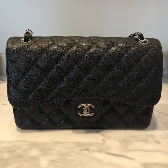 9dd6a60c45f8 CHANEL Bags | Classic Caviar Double Flap Jumbo Handbag | Poshmark